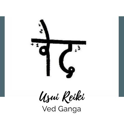 cómo dibujar símbolo ved ganga karuna reiki